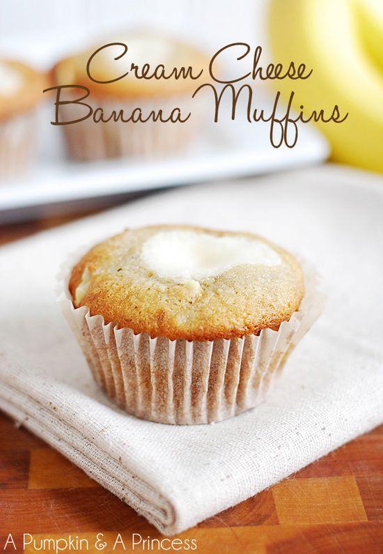 Cream Cheese Banana muffins recipe