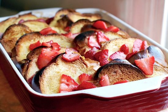 Strawberry Baked French Toast by brooklynsupper #French_Toast #Strawberry