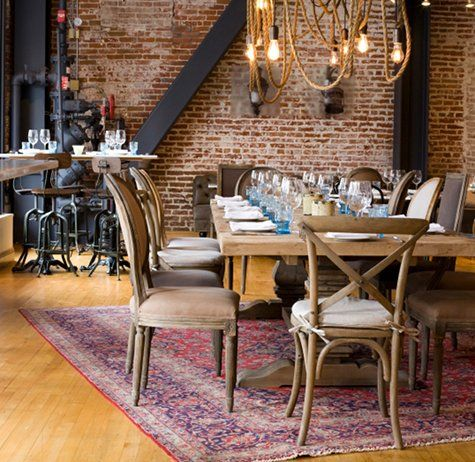 gorgeous brick wall and wood floors