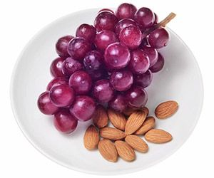Red Grapes and Almonds