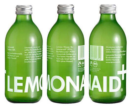 Lemonaid+ #bottle #packaging #package #design
