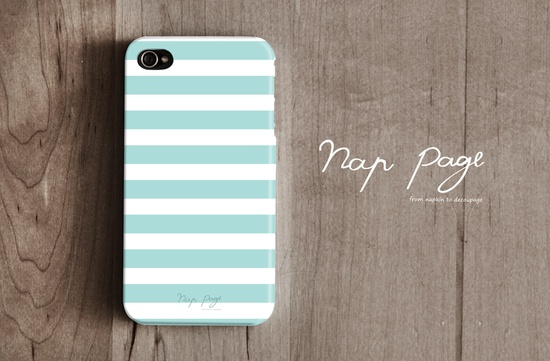 Apple iphone case for iphone iphone 3Gs iphone 4 iphone 4s iPhone 5 : Soft blue sea foam color line with white. $19.90, via Etsy.
