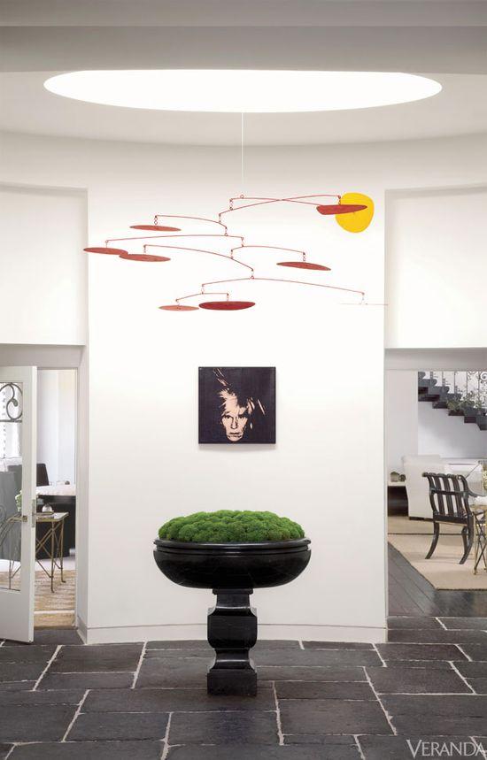 Alexander Calder mobile. Interior Design by Richard Hallberg.