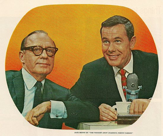 Jack Benny and Johnny Carson