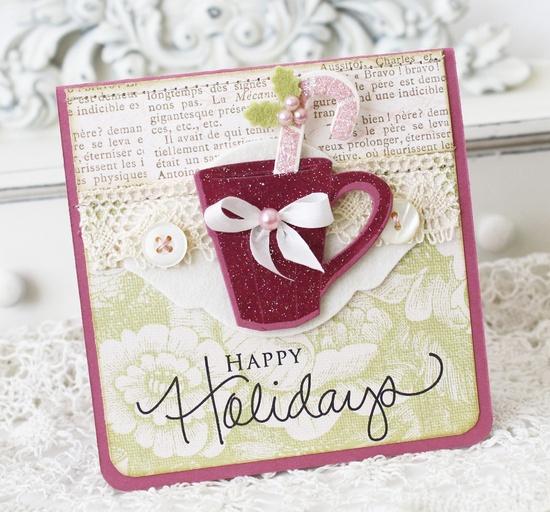 Happy Holidays Handmade Card