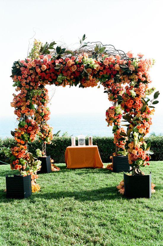 floral chuppa. Stunning!