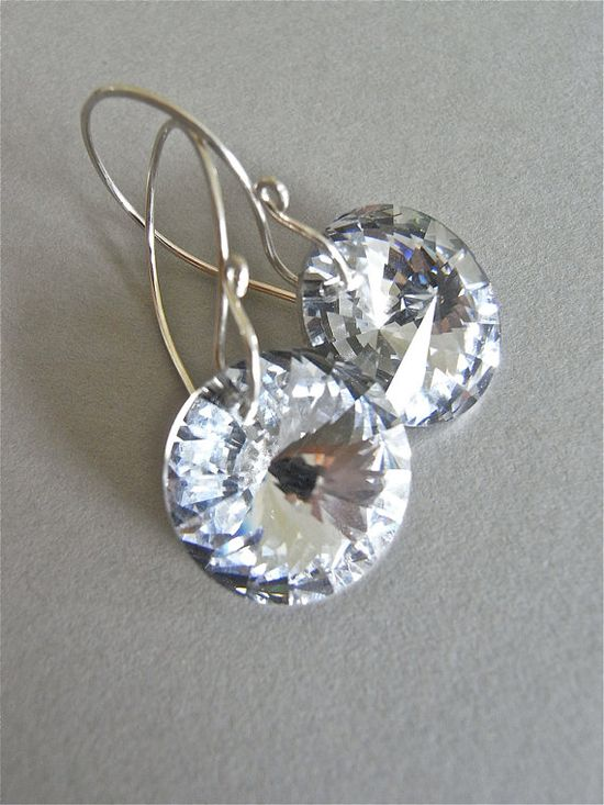 The Aurora earrings - super sparkly silver foiled vintage Swarovski crystals have been carefully placed on my signature ear wires (in sterling).  Very limited!