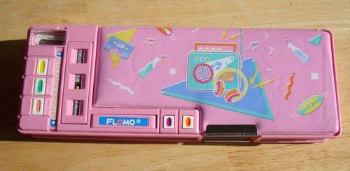 80s pencil case