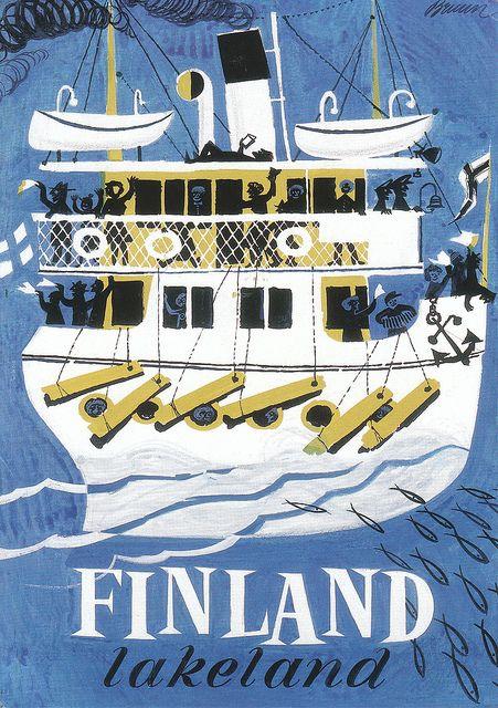 Finnish #tourism #promotion brochure 1960s by Erik Bruun