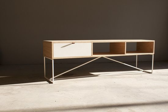 Scout - TV Cabinet. Plywood steel handmade furniture