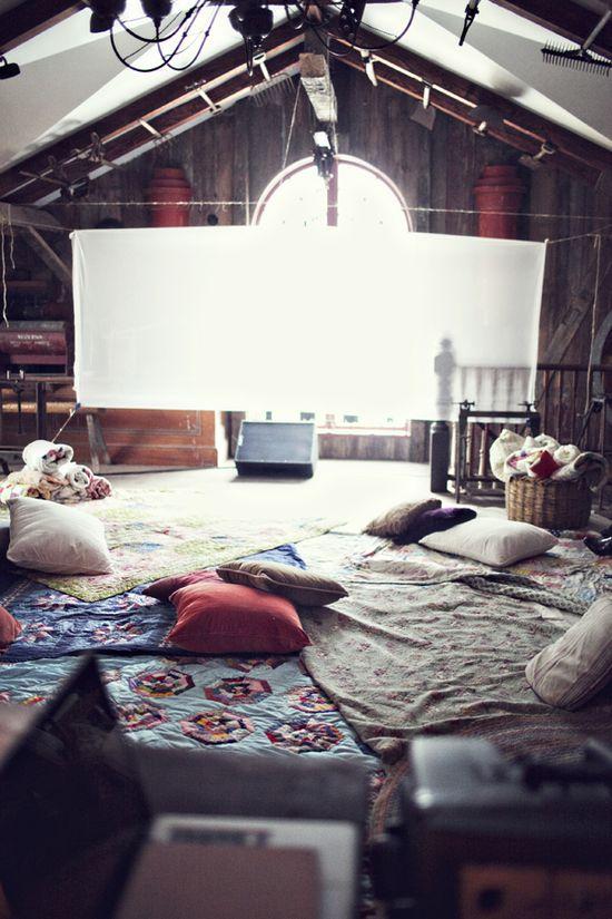 Casual attic theater