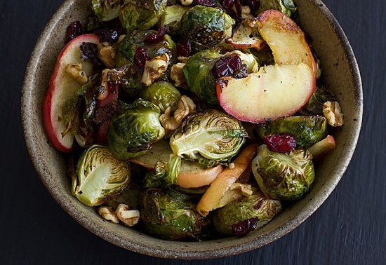 Roasted Brussels Sprouts & Apples  @Oh My Veggies