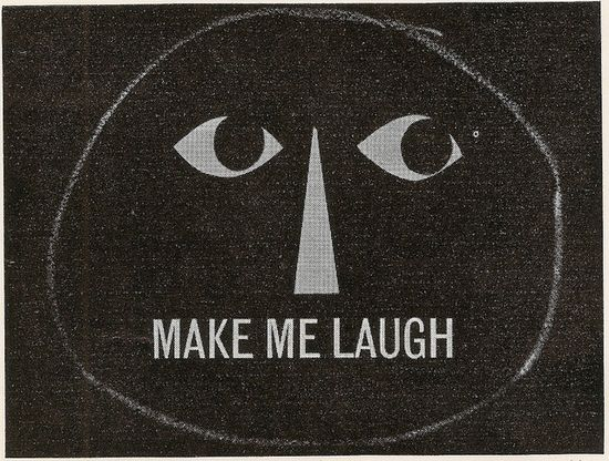 "ATV graphics for ""Make Me Laugh"" TV programme 1960, designer Derek Cousins"