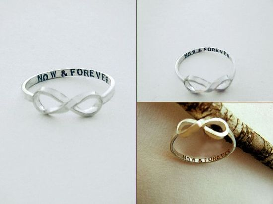 So cute: Personalized infinity rings