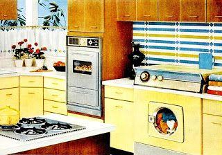 Farm Girl Pink....: ~ Yellow Kitchens... vintage style...