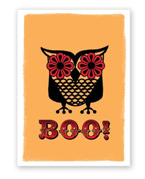 Halloween owl from rockscissorpaper