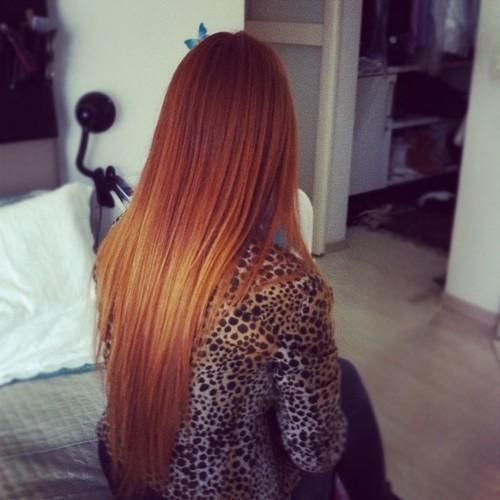 lovely long straight hair