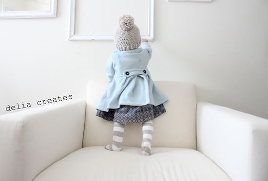 Baby Dress Coat - my little girl shall have one of these! love this look!