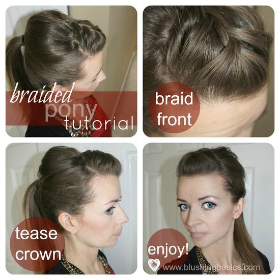 blushing basics: Quick & Easy Hair Tutorial