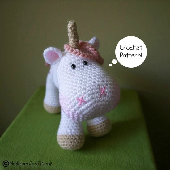 Luna the unicorn by madisonscraftnook on Etsy, $4.99