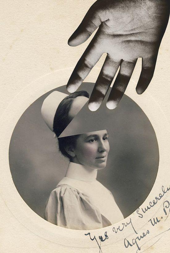 Nurse vintage photomanipulation