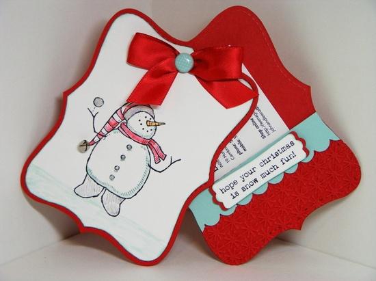 Easy gift card holder Stampin' UP!