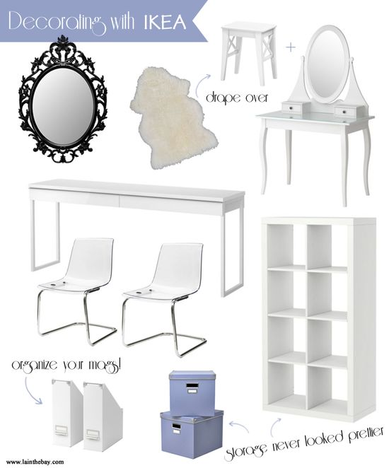Decorating with Ikea -- all the makings of a stylish (and affordable) living! www.lainthebay.com