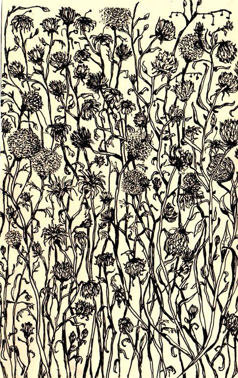 """Saatchi Online Artist: Gregorio Racadio; Pen and Ink, Drawing """"Study for Garden of Gethsemane """""""