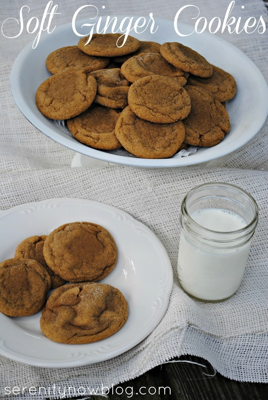 Soft Ginger Cookies (Dessert Recipe), from Serenity Now