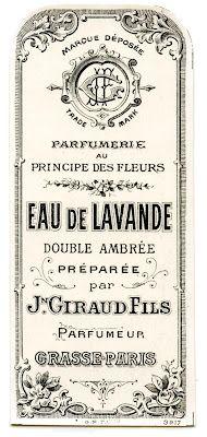 Étiquette de parfum français