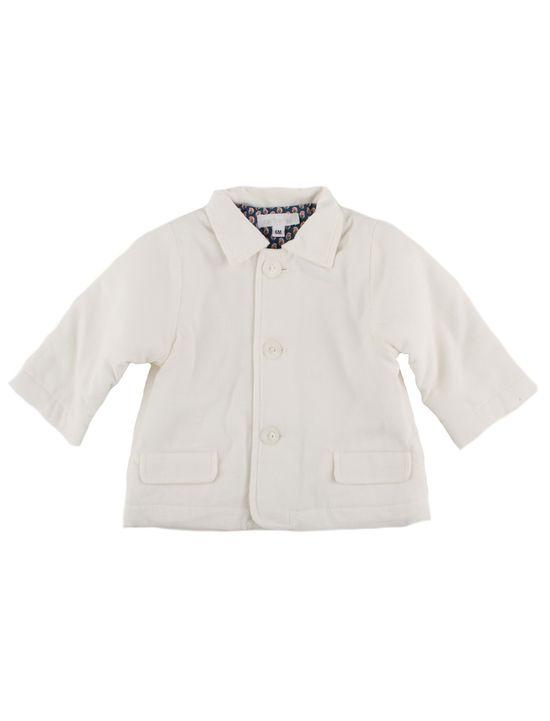 Lined corduroy baby boy jacket
