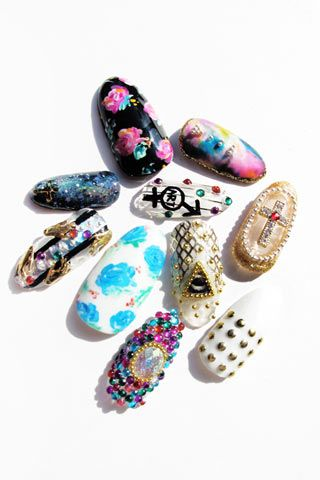Absolutely insane nail art from Vanity Project, NYC #nails #manicure