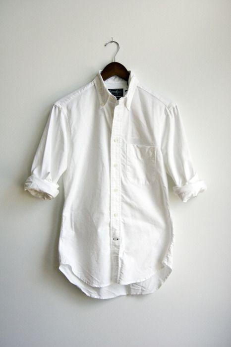 white oxford cloth shirts...