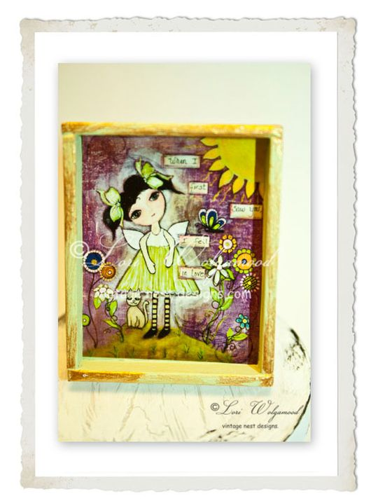 When I First Saw You, I Fell n Love Framed Mini Print Doll House - Vintage Nest Designs, Creative Handmade and Hand Painted Designs