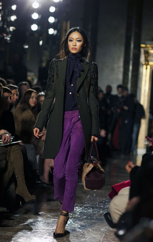 purple pants...
