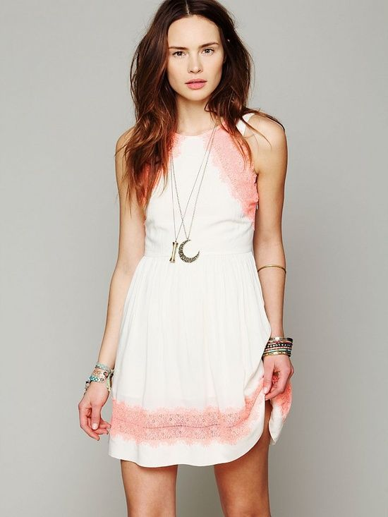 Free People Georgia Lace Dress, #Romantic Elegance Collections