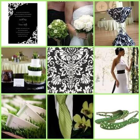 green, black, and white color scheme