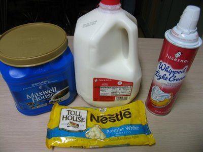 Homemade Starbuck's White Chocolate Mocha.....gonna wish I never pinned this :)