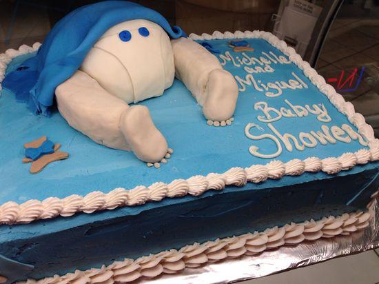 Baby Boy Butt Cake