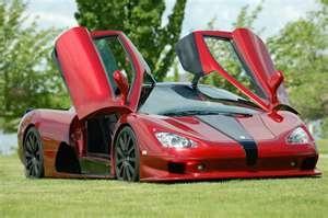 Ultimate red sports car - Bugatti