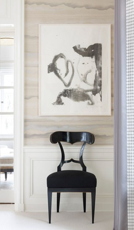 chair, watercolor wallpaper