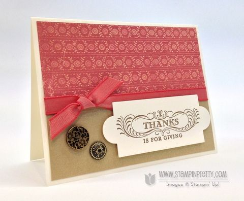 Stampin up stampinup stamp it thanksgiving fall card idea holiday catalogs demonstrator Mary Fish