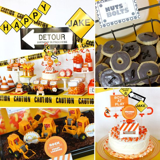 construction trucks birthday party idea pinterest