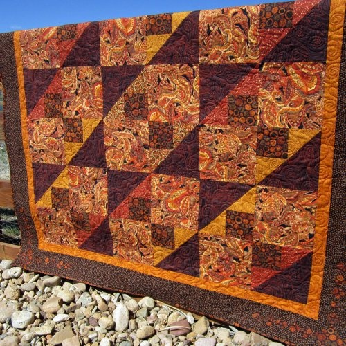 Take a small block and make it BIGGER! I like it!  Handmade Quilt Movement