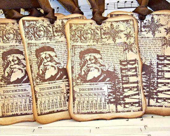 Handmade gift bag tags~
