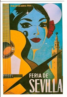 Old travel poster for Seville, Spain    #tapasandtagines #spain #seville #travel