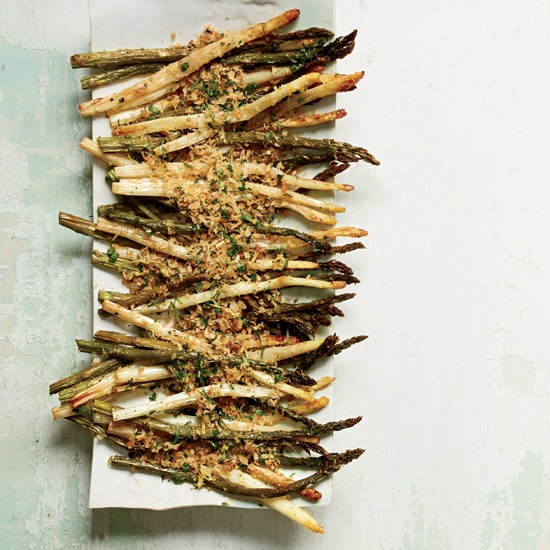 Roasted Asparagus with Lemony Bread Crumbs // More Amazing Asparagus Recipes: www.foodandwine.c... #foodandwine