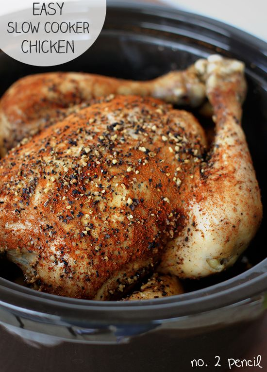 Slow Cooker Chicken - easy and delicious!