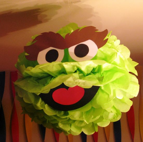Sesame Street Oscar the Grouch tissue paper by TheShowerPlanner