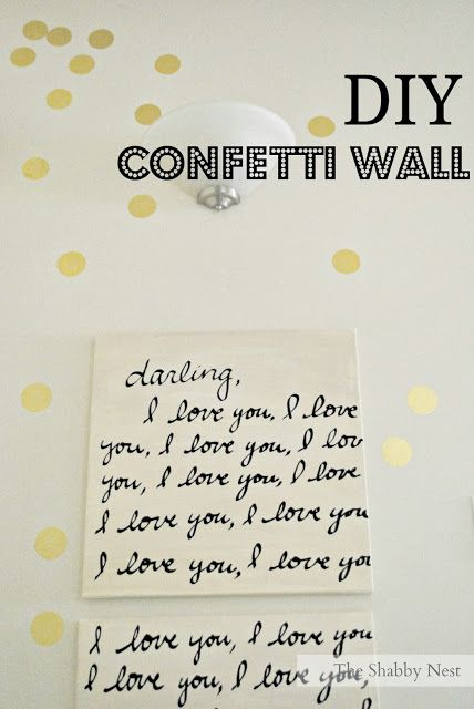 Adorable DIY Gold Confetti Wall by The Shabby Nest